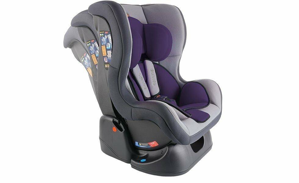 Lionelo Liam AutoKindersitz Kindersitz Autositz 0-18Kg Gruppe 0+//1 TÜV Lila