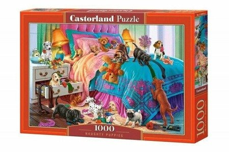 Castorland 104475 Naughty Puppies 1000 Teile Puzzle