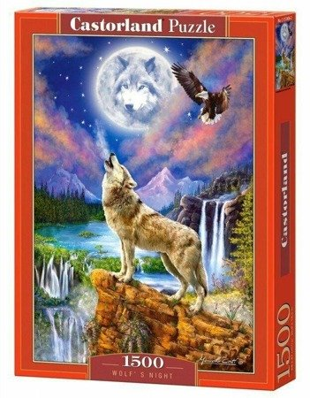 Castorland 151806 Wolf's Night 1500 Teile Puzzle