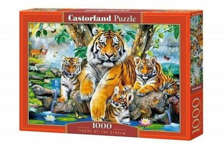 Castorland C-104413 Tigers by The Stream 1000 Teile Puzzle