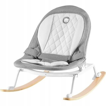 Lionelo Rosa - grey/white Babywippe