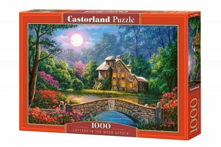 Puzzle Castorland 1000 Teile COTTAGE IN THE MOON GARDEN