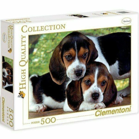 Puzzle Clementoni 500 Teile Nah beieinander